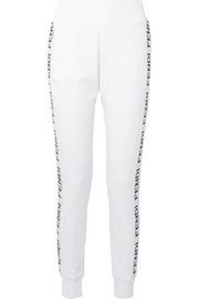 Fendi Grosgrain-trimmed cotton-blend jersey track pants