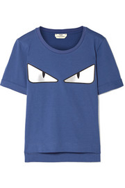 Fendi Wonders appliquéd cotton-jersey T-shirt