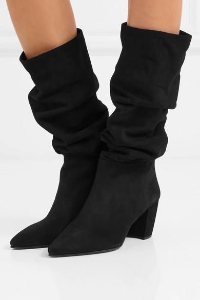 Prada | | Prada Kniehohe Stiefel aus Veloursleder e23aa0