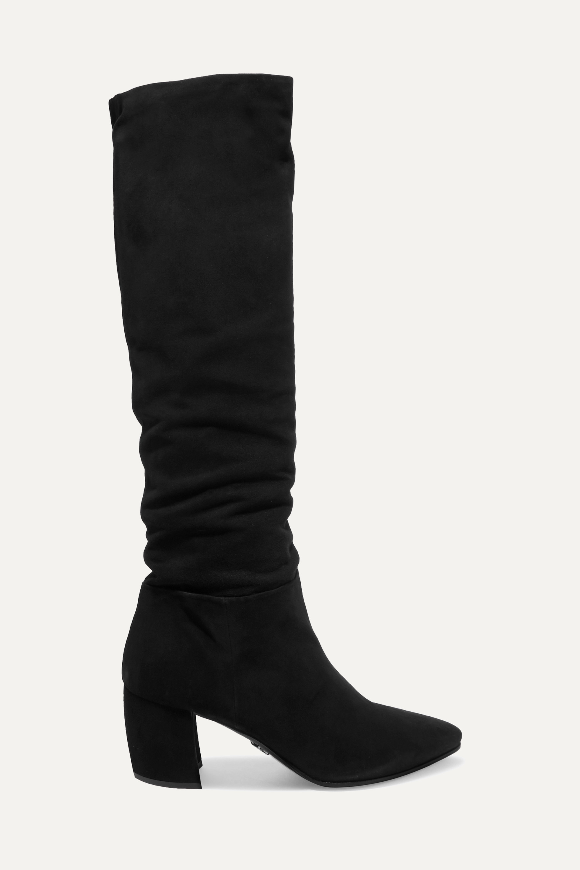 Black 65 suede knee boots | Prada | NET