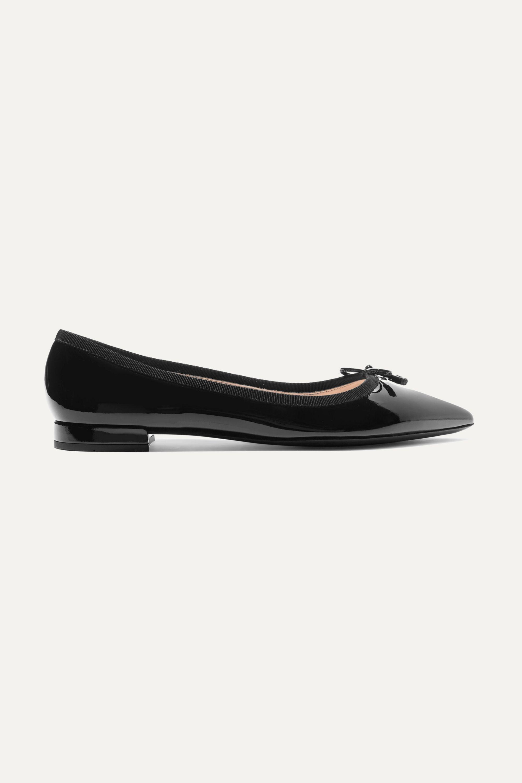 Black Patent-leather ballet flats