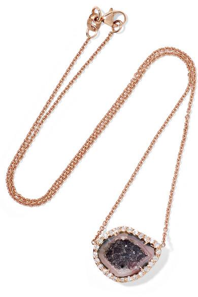 18-karat Rose Gold Diamond Necklace - one size Kimberly McDonald jazoE