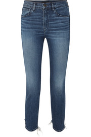 W3 cropped distressed high-rise skinny jeans