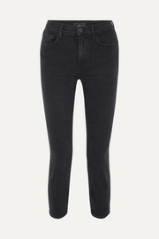 W4 Colette cropped high-rise slim-leg jeans