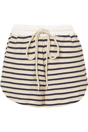 Striped cotton-canvas shorts