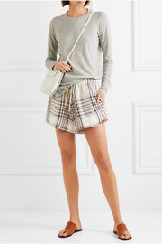 Bassike Checked linen-canvas shorts