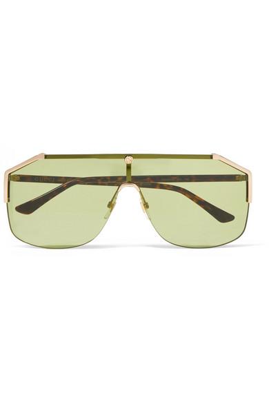 b6f2a28773f Gucci. Aviator-style gold-tone sunglasses