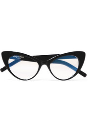 Saint Laurent Brille mit Cat-Eye-Rahmen aus Azetat