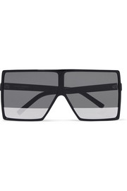 Oversized square-frame acetate sunglasses