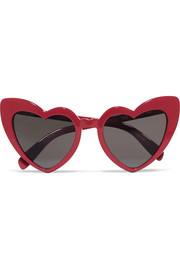 Saint Laurent Loulou heart-frame acetate sunglasses