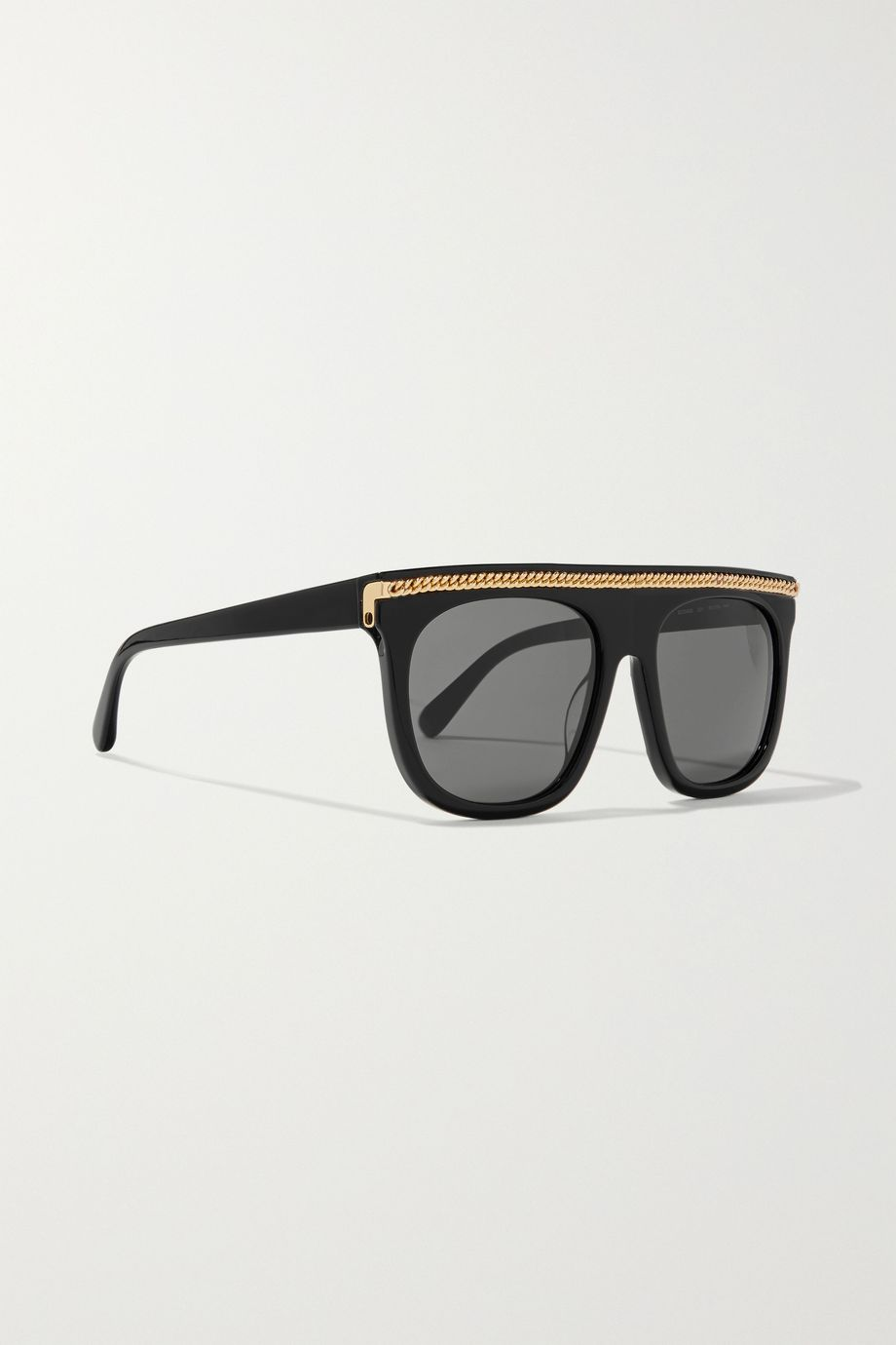 Stella McCartney Chain-embellished D-frame acetate sunglasses
