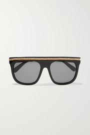 Stella McCartney Chain-embellished D-frame acetate sunglasses