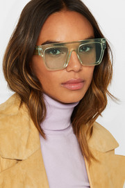 Stella McCartney Icy Ice square-frame acetate sunglasses