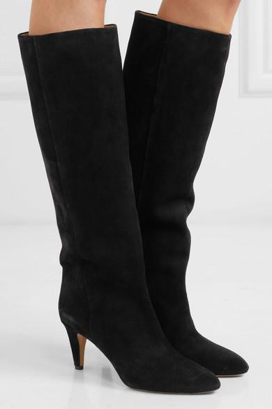 Isabel Stiefel Marant | Latsen kniehohe Stiefel Isabel aus Veloursleder 7fdc92