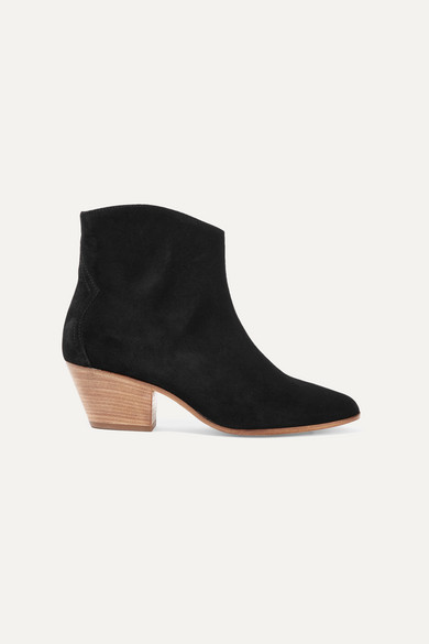 Dacken Suede Ankle Boots, Size Fr41, Women, Black