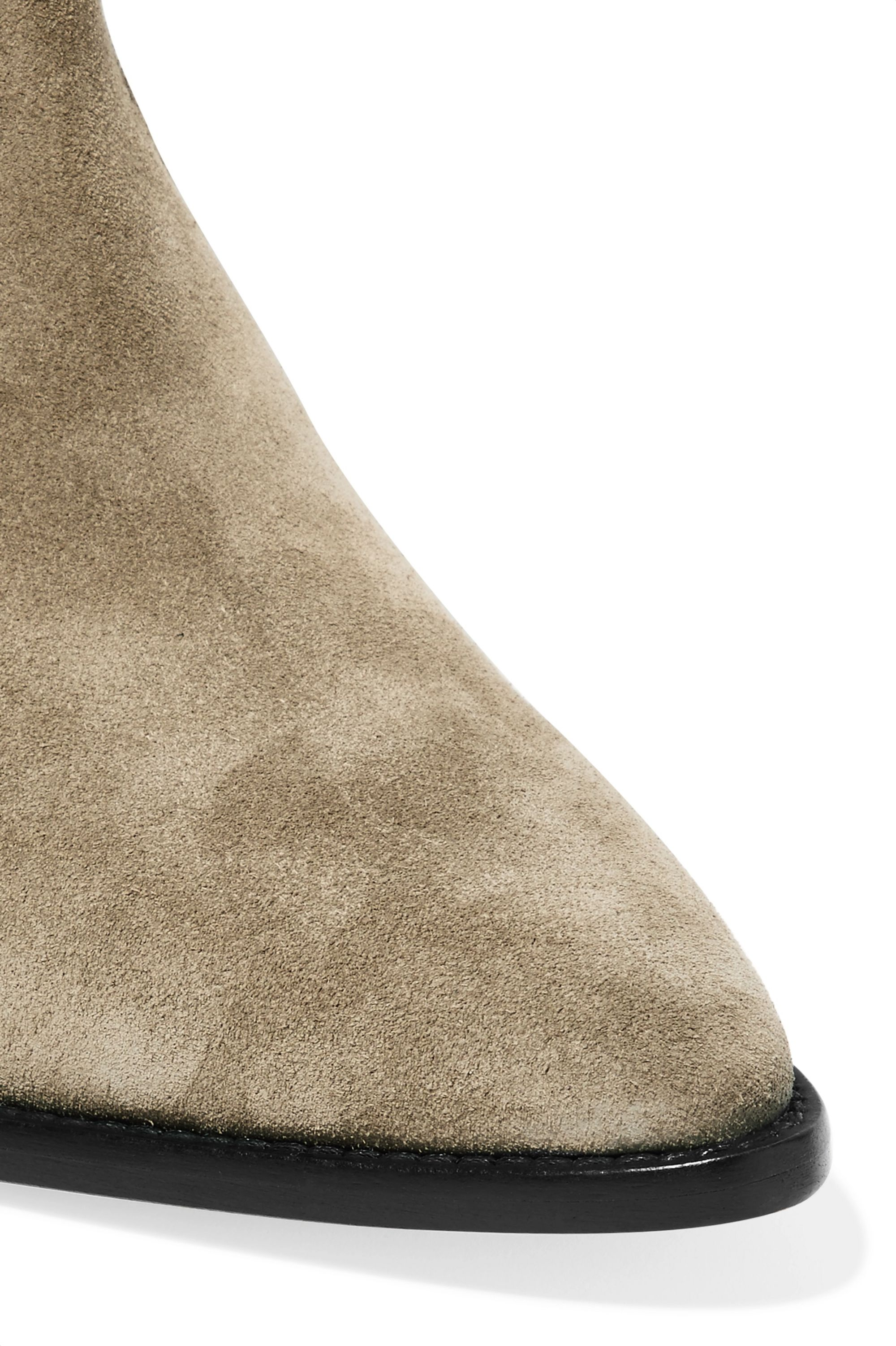 Isabel Marant Denzy embroidered suede knee boots
