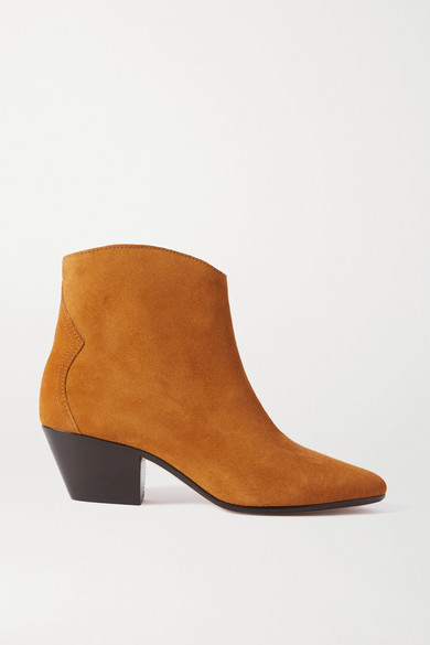 Dacken Suede Ankle Boots, Size Fr40, Women, Brown, Cognac