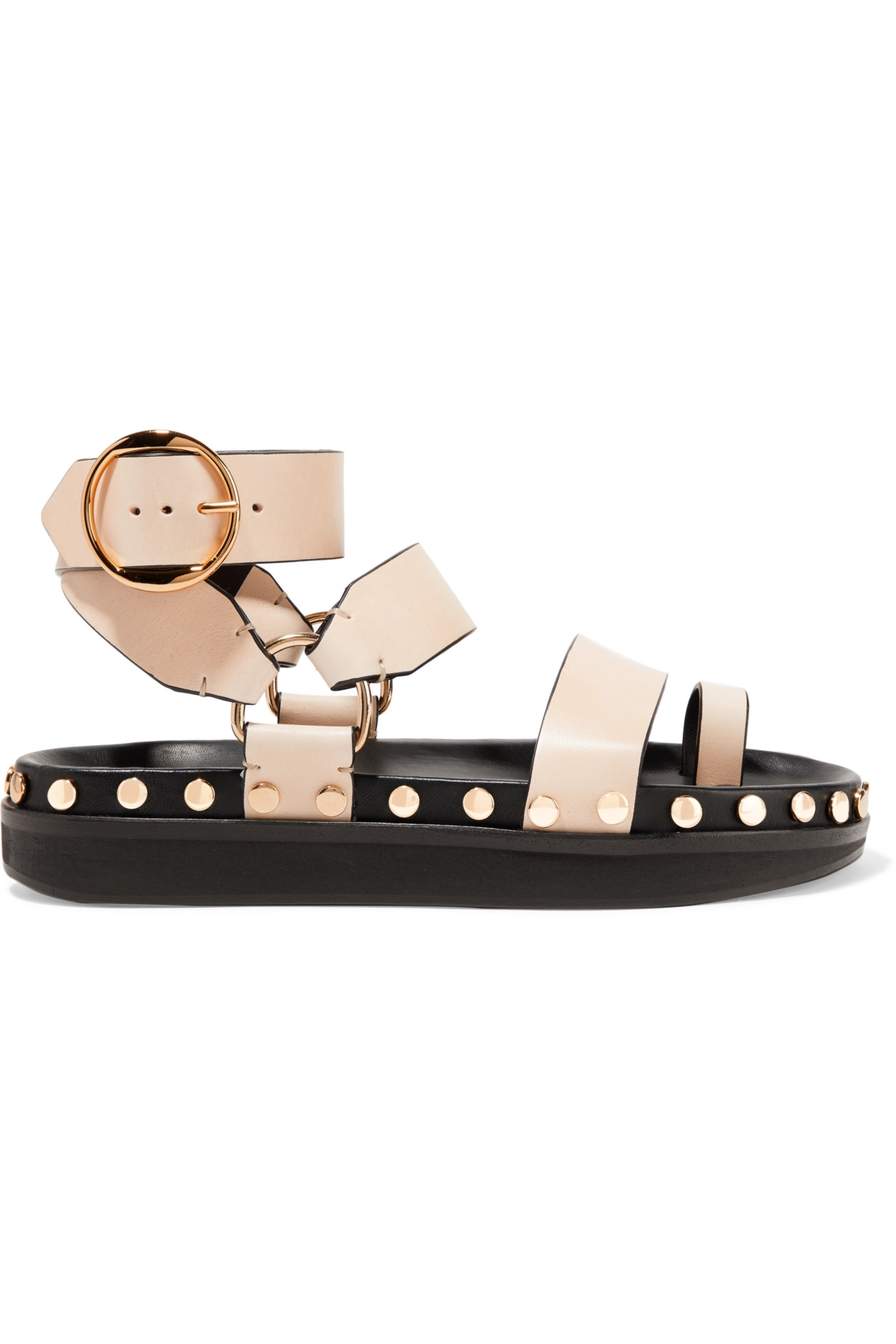 Beige Nirvy studded leather sandals