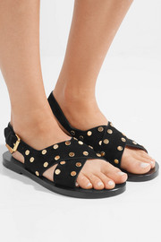 Jane studded suede sandals
