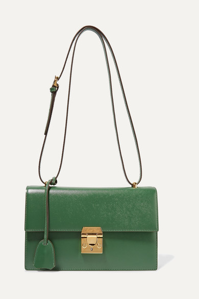 MARK CROSS Downtown textured-leather shoulder bag