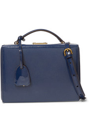 Mark Cross Grace small patent-leather shoulder bag