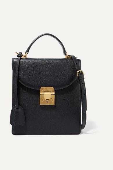 94ac9d892db Mark Cross. Uptown textured-leather shoulder bag