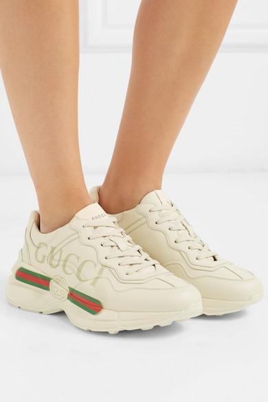 Gucci. Rhyton logo-print leather sneakers