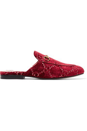 Gucci Princetown horsebit-detailed logo-jacquard slippers