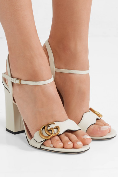a9ee952a3 Gucci | Marmont logo-embellished leather sandals | NET-A-PORTER.COM