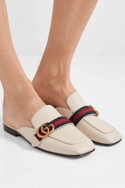 Gucci Peyton logo-embellished leather slippers