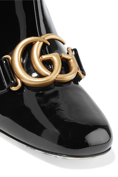 e41f7262adb Gucci. Logo-embellished patent-leather ankle boots. £1