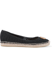 Lilibeth logo-embellished crocheted cotton espadrilles