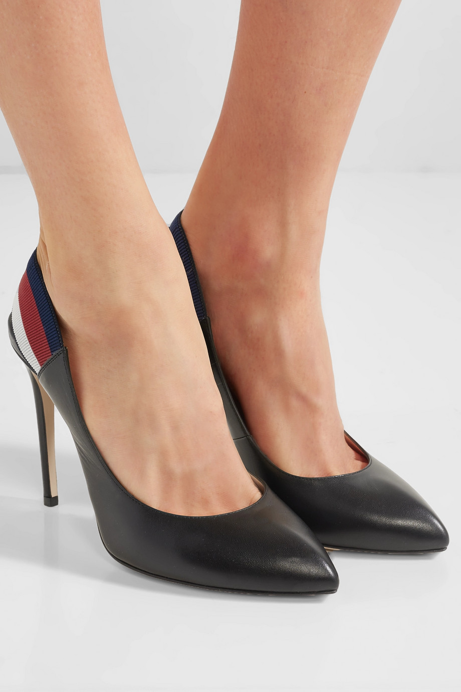Gucci Sylvie leather slingback pumps