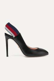 Gucci Sylvie leather slingback pumps