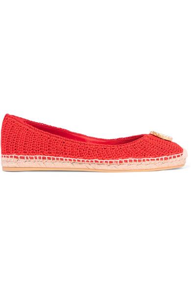 0b29060a6fc Gucci. Lilibeth logo-embellished crocheted cotton espadrilles