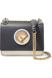 Fendi KAN I small color-block leather shoulder bag