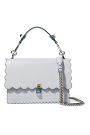 Fendi Kan I scalloped leather shoulder bag