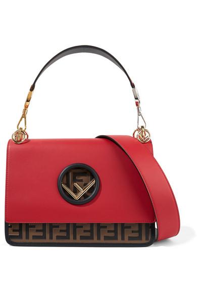Fendi. Kan I embossed leather shoulder bag 7d1a64994cb6d