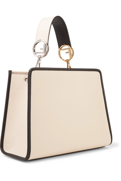 a7f22421cb26 Runaway small two-tone leather tote