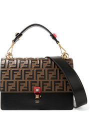 Fendi Kan I embossed leather shoulder bag