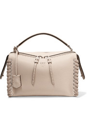 Fendi Lei two-tone textured-leather tote