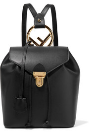 Fendi Textured-leather backpack