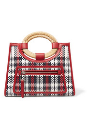 Fendi Runaway small raffia-trimmed woven leather tote
