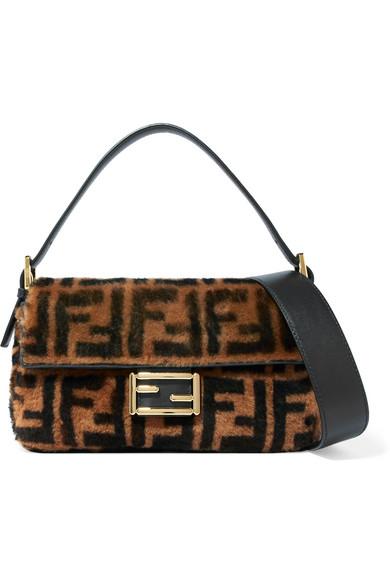 Baguette Shearling Shoulder Bag by Fendi