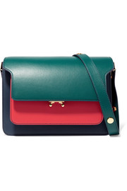 Trunk medium color-block leather shoulder bag