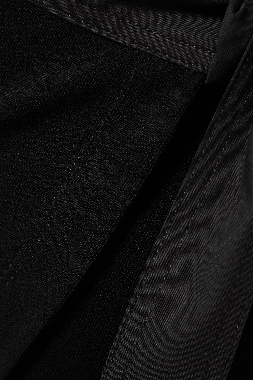 Rosetta Getty Tunika aus Baumwoll-Jersey mit Canvas-Besatz