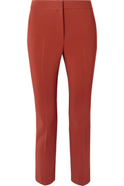 Cropped stretch-cady tapered pants