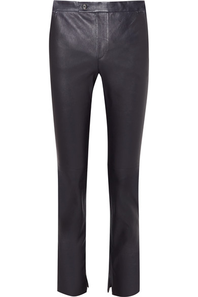 Leather Slim Leg Pants by Helmut Lang