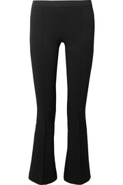 Cropped stretch-ponte leggings