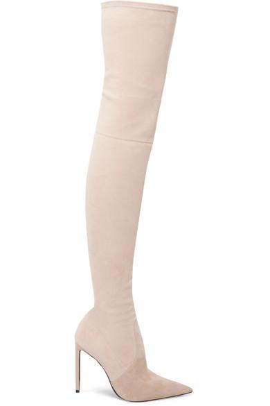 f397e181785b9 TOM FORD | Stretch-suede over-the-knee boots | NET-A-PORTER.COM